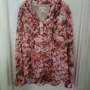 Cold Water Creek Blouse/Shirt/ Tunic with Buttons